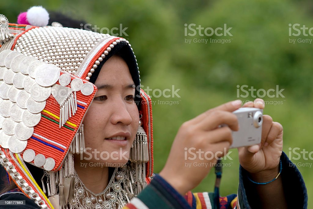 Akha Hill Tribe Woman 06 royalty-free stock photo