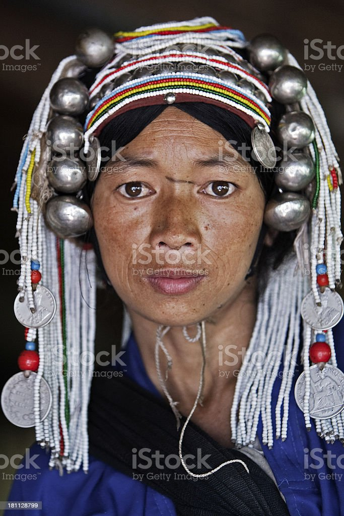 Akha woman royalty-free stock photo