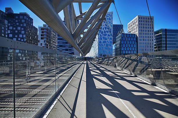 Akrobaten pedestrian bridge in Oslo, Norway – Foto