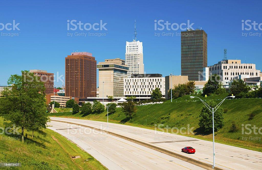 Akron Downtown Skyline stock photo