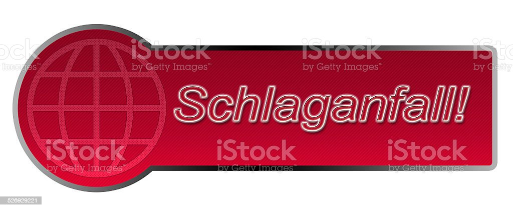 Aktions-Button / Schlaganfall! stock photo