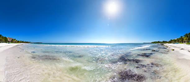 Akumal Bay - Caribbean Sea, Mexico stock photo