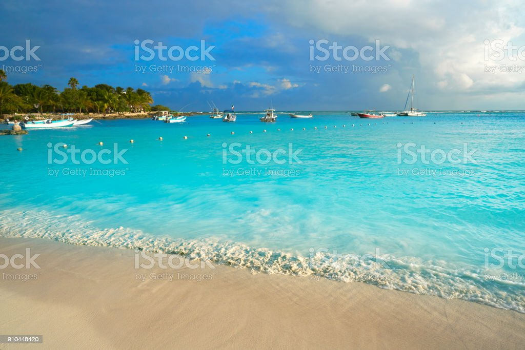Akumal beach in Riviera Maya of Mexico stock photo