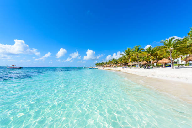 Akumal beach - paradise bay  Beach in Quintana Roo, Mexiko - caribbean coast – Foto
