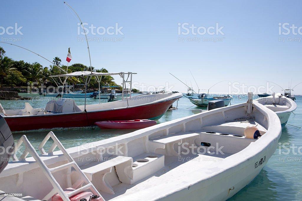 Akumal Caribbean beach stock photo