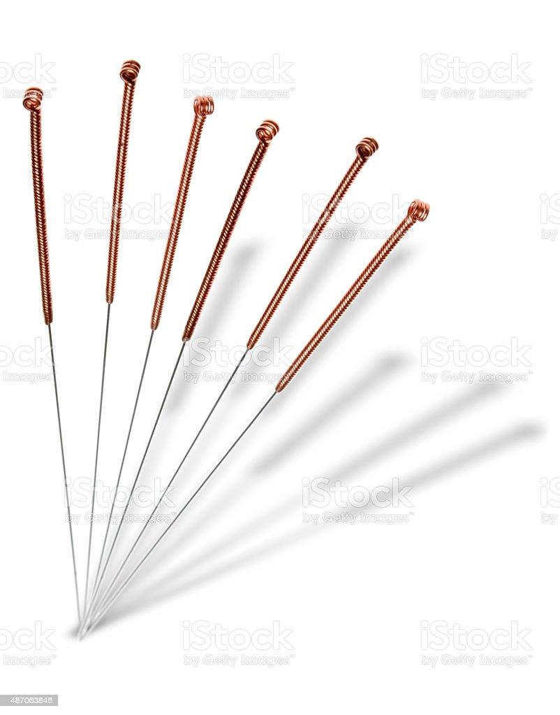 Akupunkturnadeln stock photo