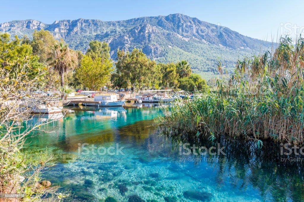 Akyaka Village in Turkey stock photo