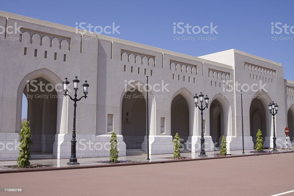 Al Alam Palace in old Muscat royalty-free stock photo