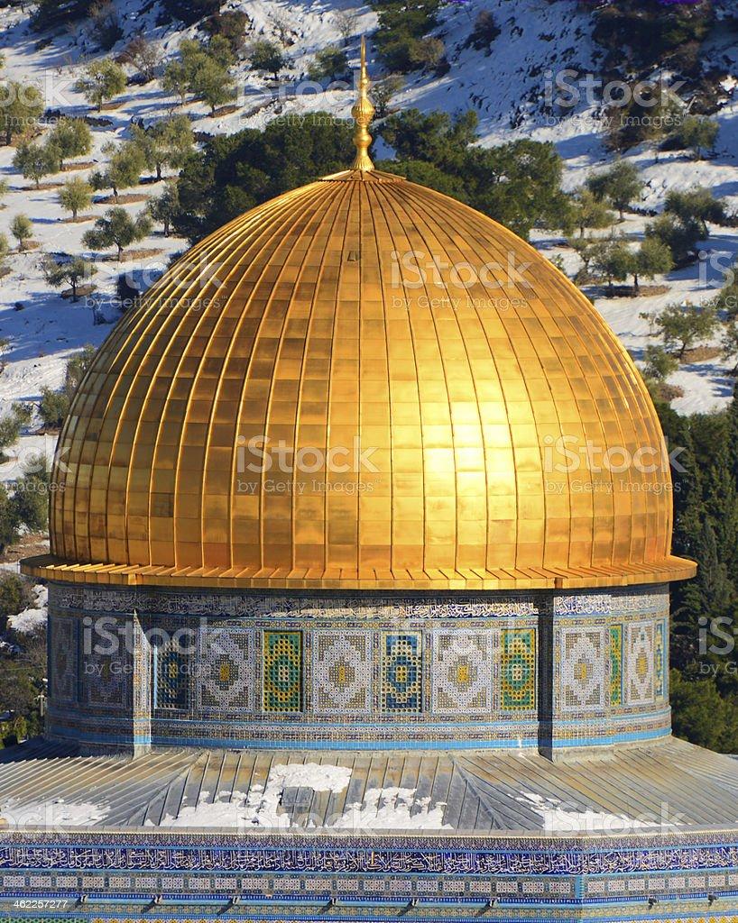 Al Aqsa mosque, Golden dome stock photo