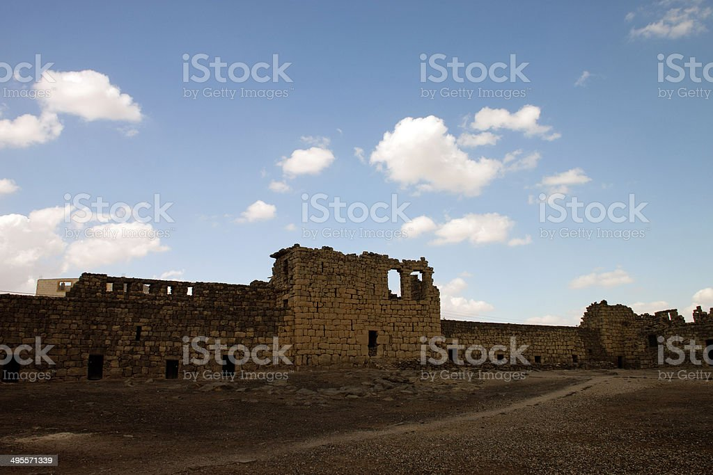 Al Azraq Castle ruins royalty-free stock photo