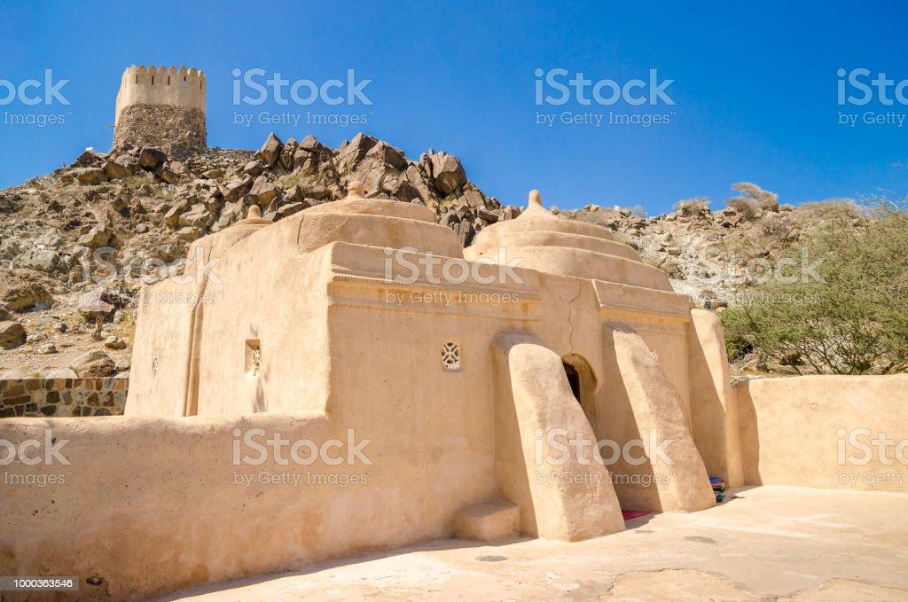 Al Badiyah Moschee in Khor Fakkan, Fujairah - Lizenzfrei Alt Stock-Foto
