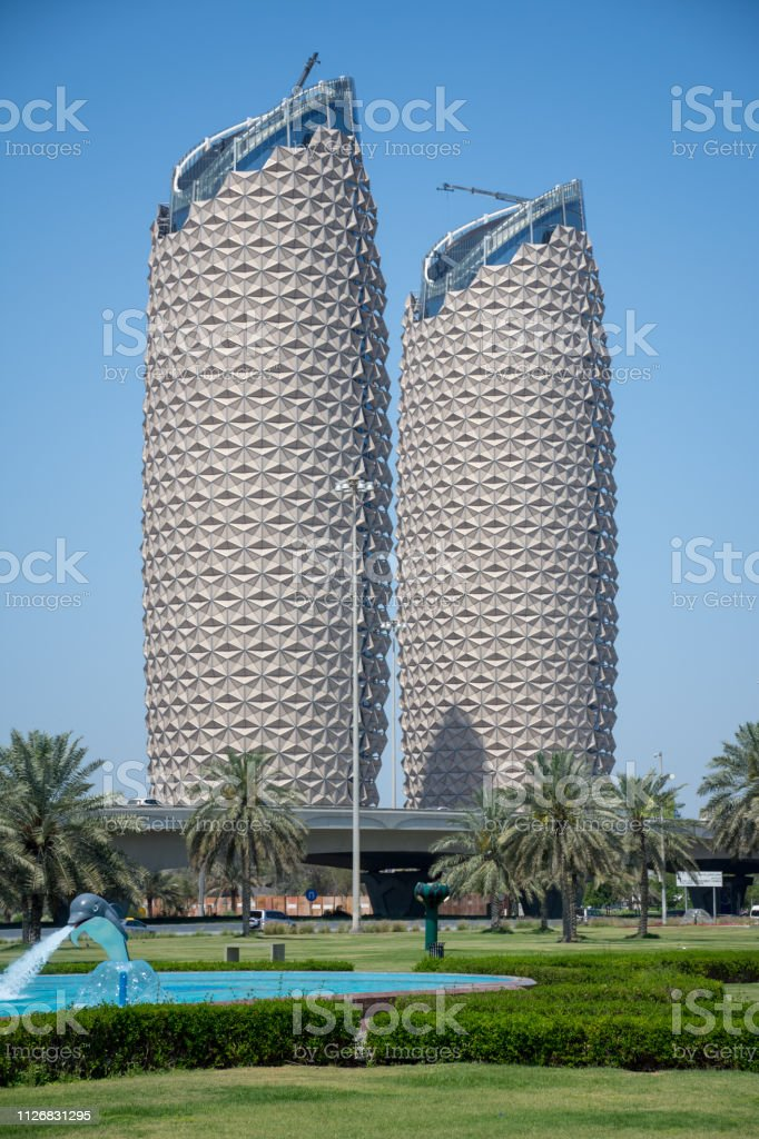 Al Bahr Towers In Abu Dhabi United Arab Emirates From The