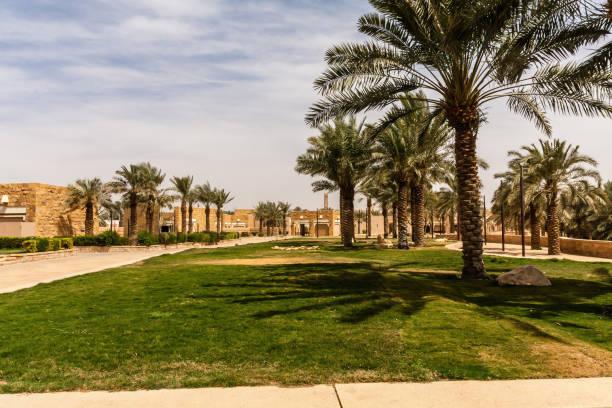 Al Bujairi Park near Historic Ad Diriyah stock photo
