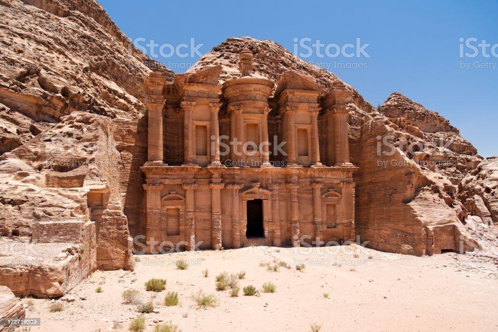Al Deir Temple royalty-free stock photo