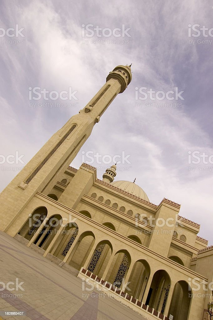Al Fateh mosque Bahrain angled vertical royalty-free stock photo