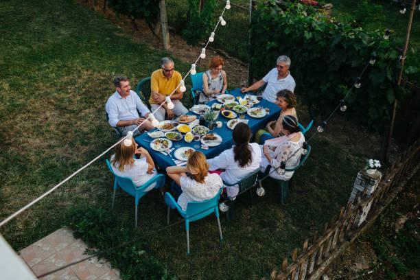 Al Fresco Dining stock photo