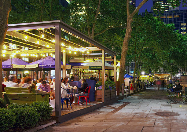 Al Fresco Dinning at Southwest Porch Bryant Park New York