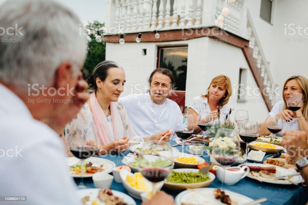 Al Fresco Meal stock photo