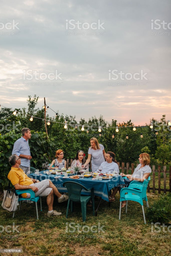 Al Fresco Meal stock photo