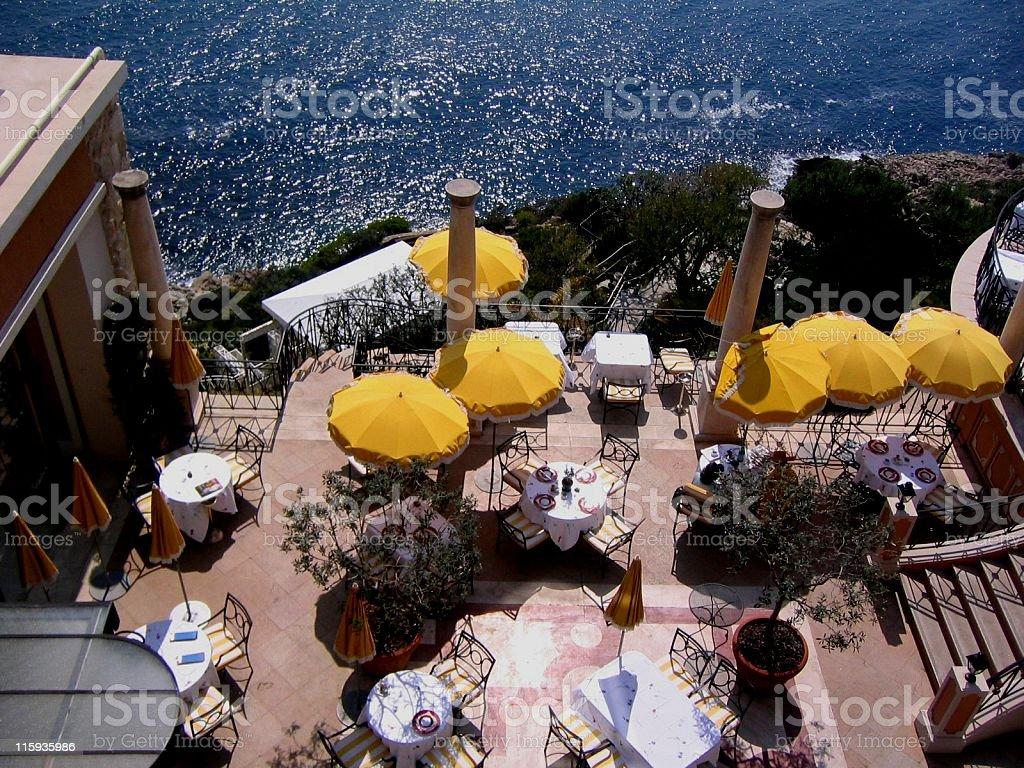 Al Fresco Restaurant in Nice royalty-free stock photo