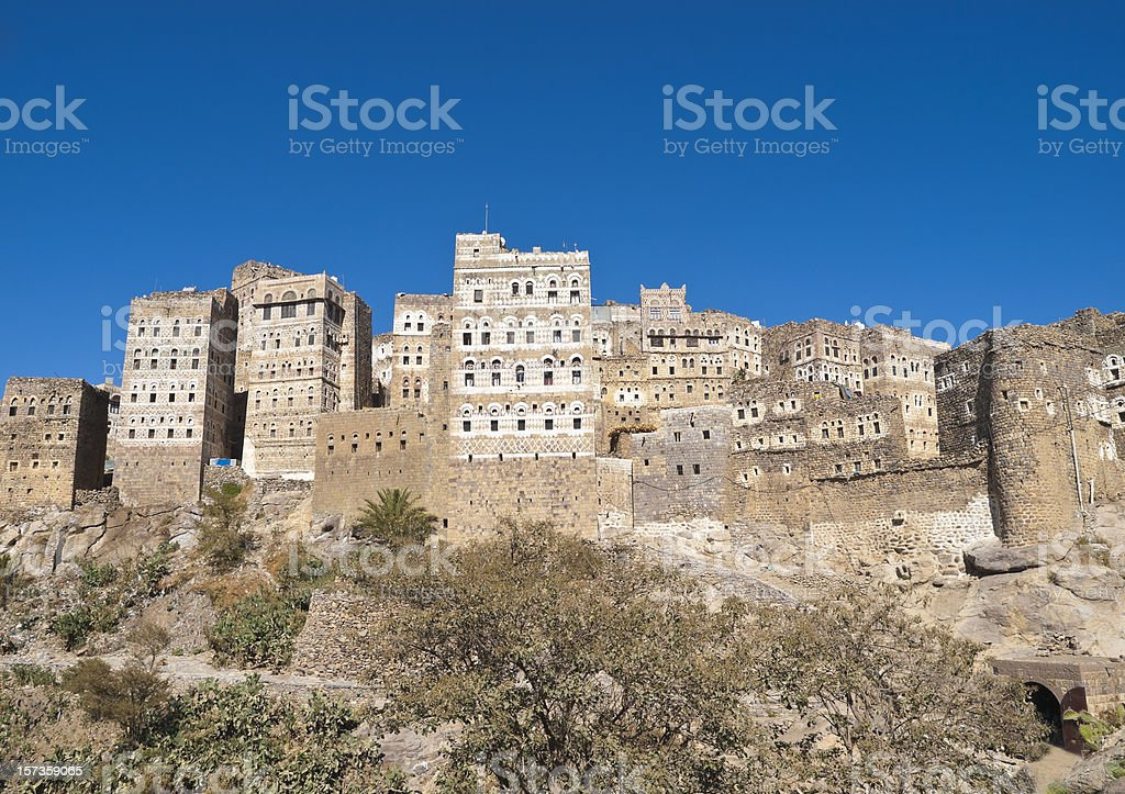 Al Hajjara Yemen stock photo