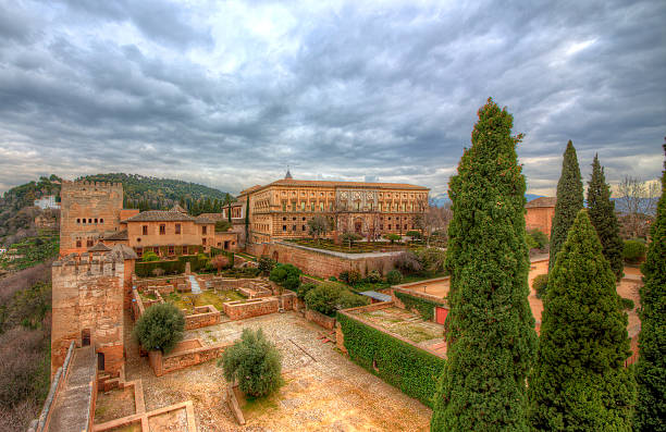 Al Hambra From Al Hambra, Granada, Spain palace of charles v stock pictures, royalty-free photos & images