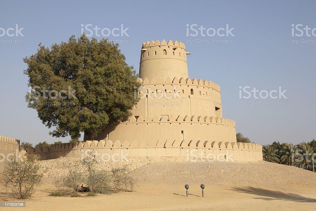 Al Jahili fort in Abu Dhabi royalty-free stock photo