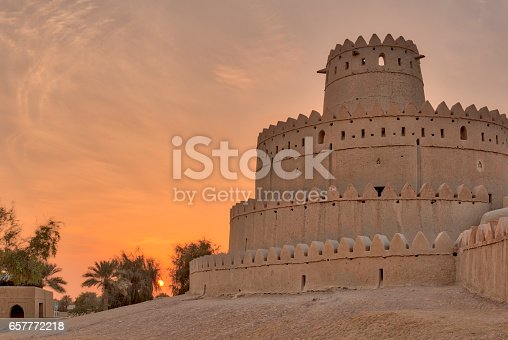 Al Jahili fort built in 1891 to defend the city of Al Ain in the emirate of Abu Dhabi