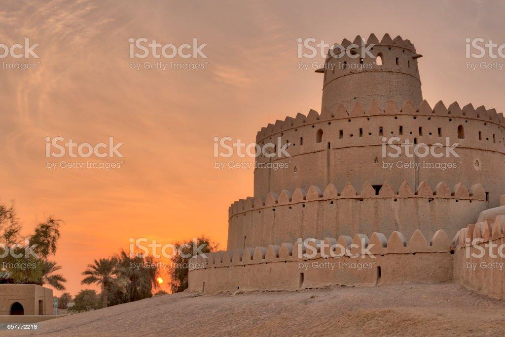 Al Jahili fort in Al Ain, Abu Dhabi, United Arab Emirates stock photo
