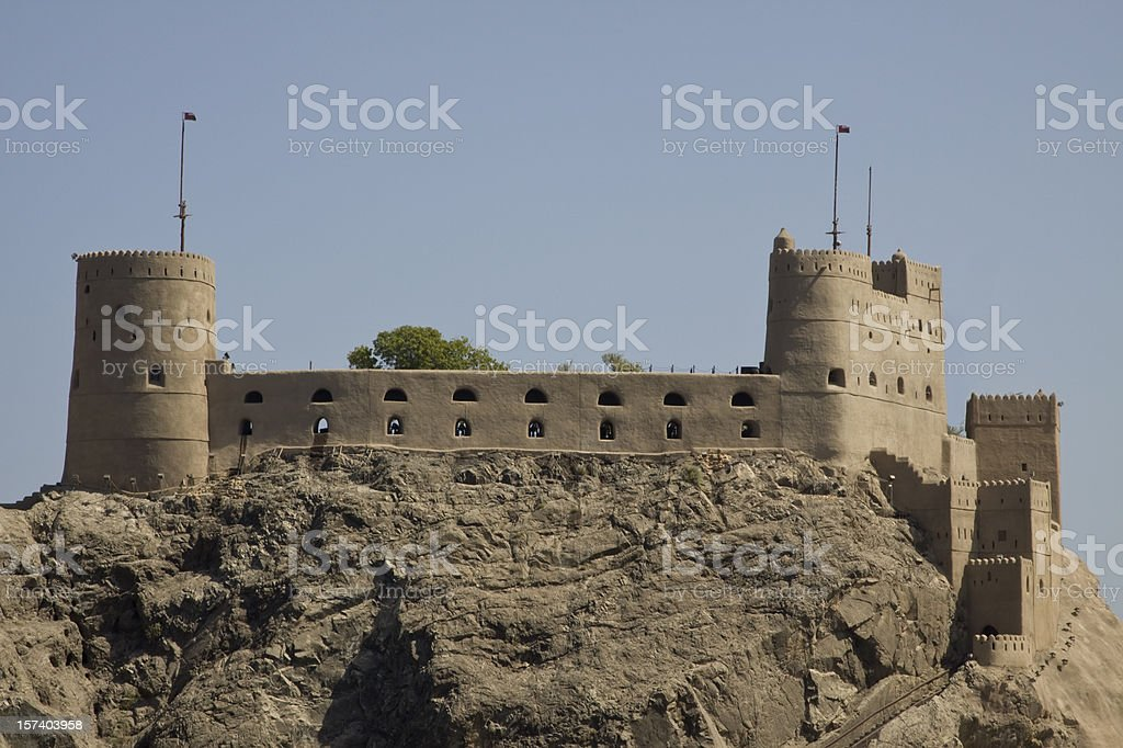 Al Jalali fort in old Muscat, Oman royalty-free stock photo