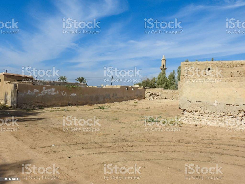 Al Jazirah Al Hamra ghost village and town in UAE stock photo