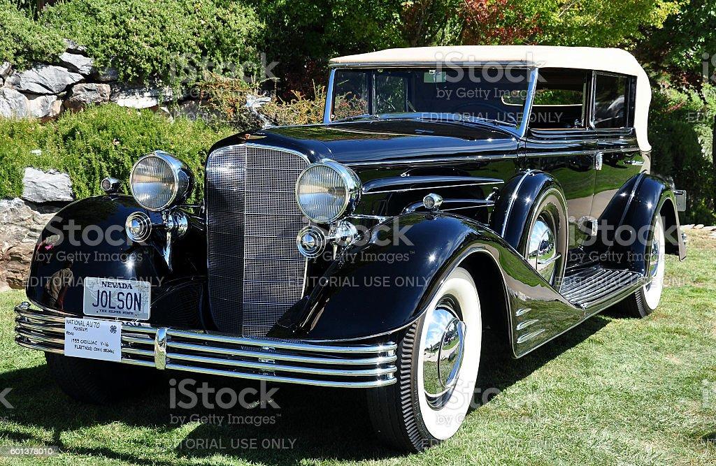 Al Jolson's V-16 Cadillac stock photo