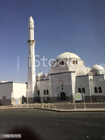 Jummah Mosque, Medina is the place where the Islamic prophet Muhammad and his companions did a Jumu'ah prayer for the first time during their route of hijrah (migration) from Mecca to Medina.