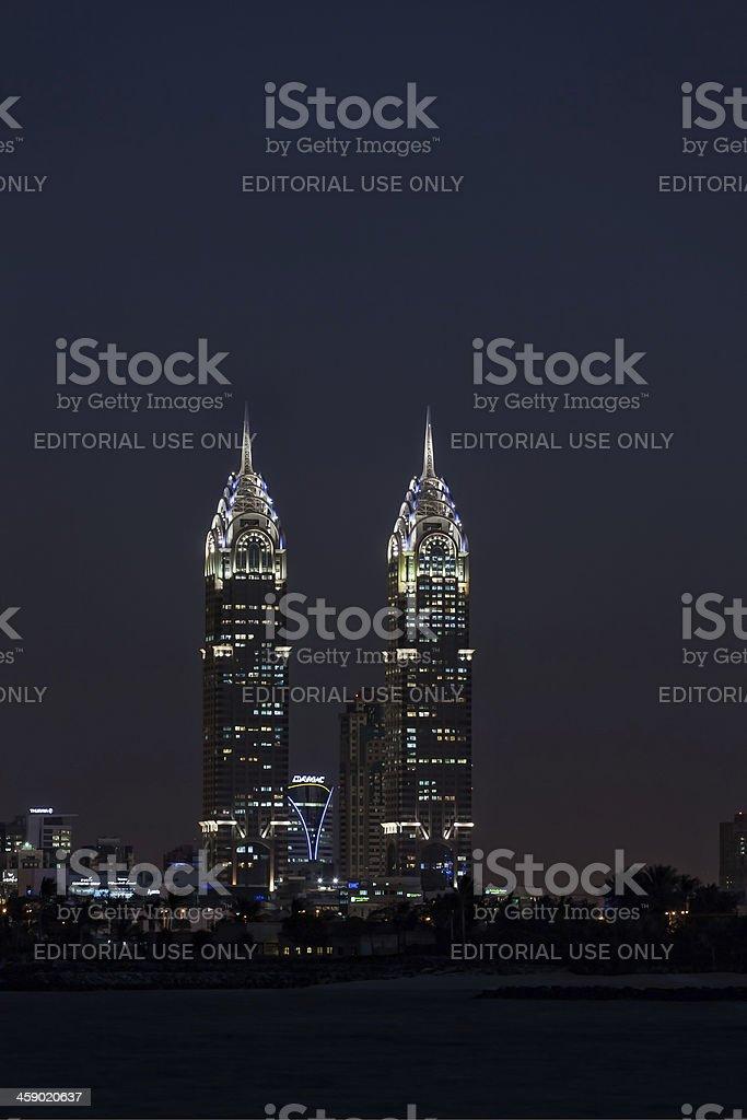 Al Kazim towers, Dubai. stock photo