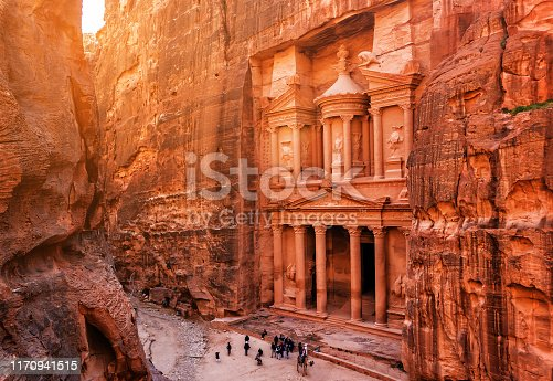 Al Khazneh (The Treasury) at old city Petra. Jordan