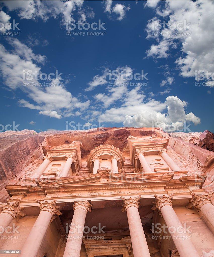 Al Khazneh or The Treasury at Petra, Jordan stock photo