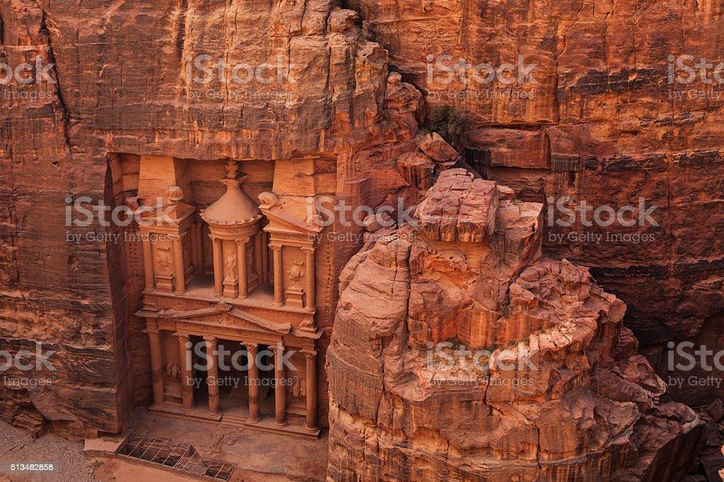 Al Khazneh or The Treasury at Petra. Jordan. stock photo