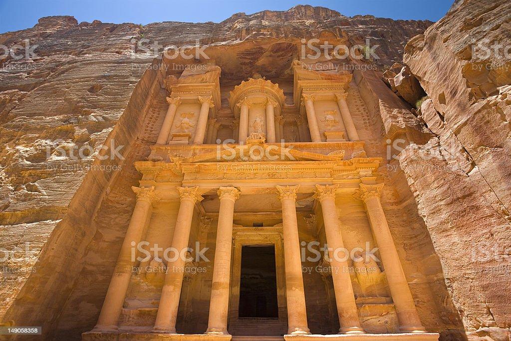 Al Khazneh royalty-free stock photo