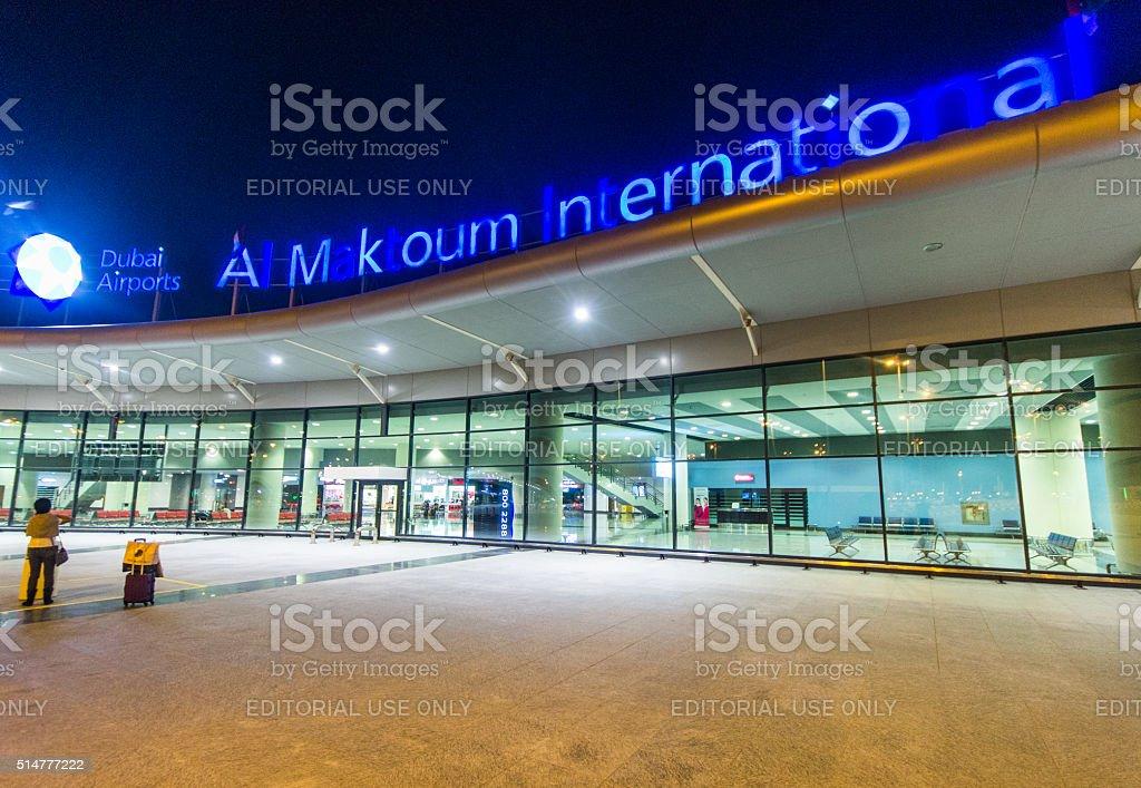 Al Maktoum International airport at Dubai World Central district stock photo