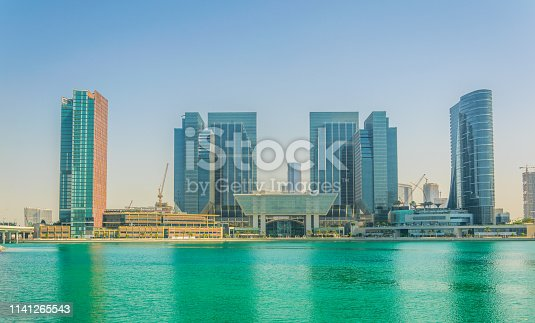 Al Maryah island in Abu Dhabi is being dominated by several skyscrapers containing the Four seasons hotel or the Galleria mall.