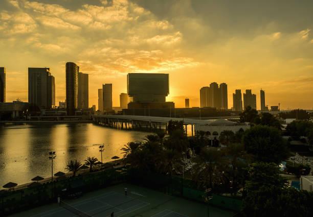 Al Maryah Island skyline. Abu Dhabi, UAE – Foto