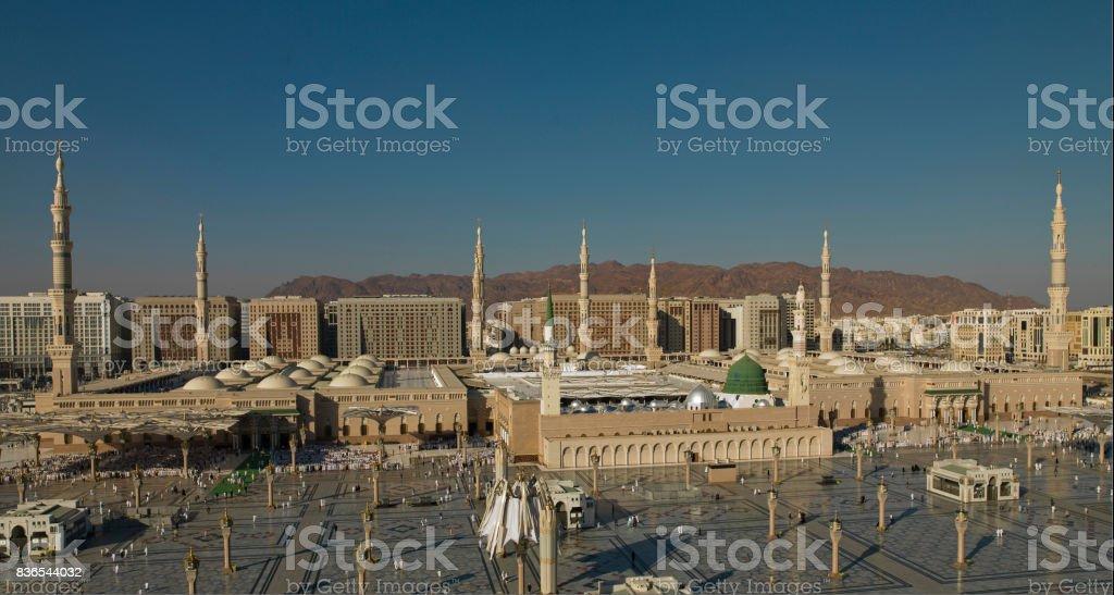 Al Masjid An Nabawi Green Dome , Masjid an Nabawi , Munawwarah  -  Madinah   /  Saudi Arabia Al Madinah Stock Photo