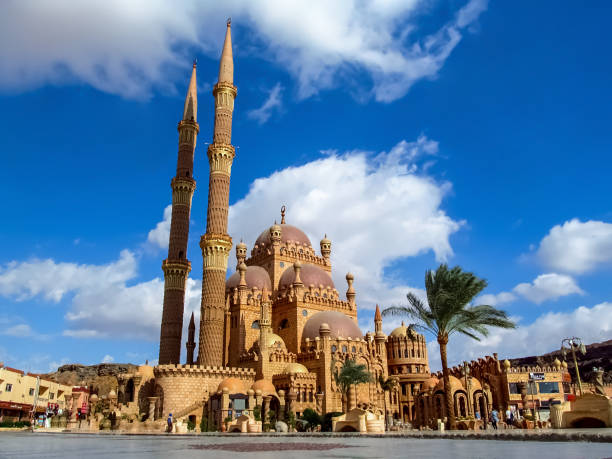 Al Mustafa Mosque in the Old City of Sharm El Sheikh stock photo