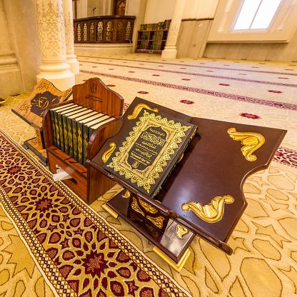 Al Noor Mosque In Sharjah Uae Stock Photo - Download Image Now