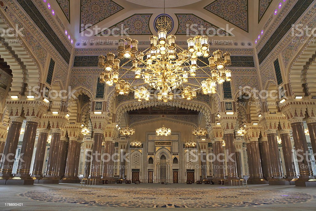 Al Saleh Mosque interior stock photo