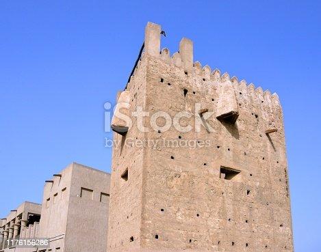 Dubai, United Arab Emirates: Al Shandagah Watch Tower, Al Ghubaiba Rd, Bur Dubai - one of three watchtowers that used to guard Dubai