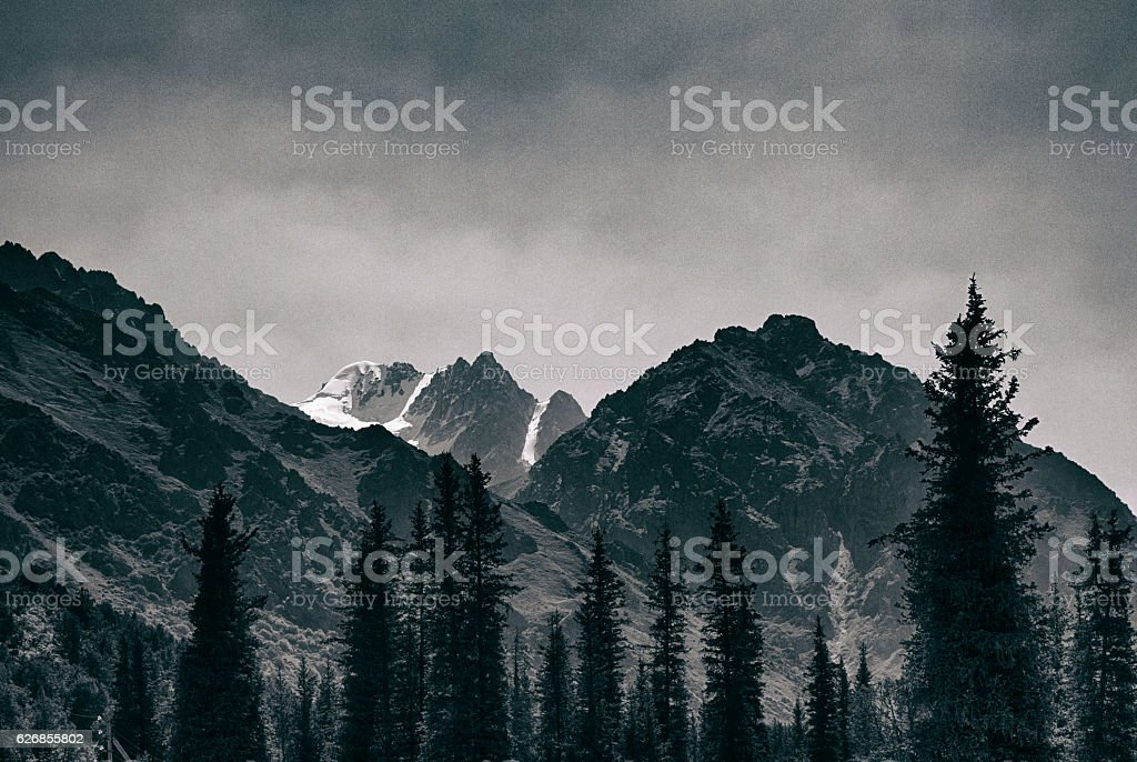 Ala Archa National Park, Kyrgyzstan stock photo