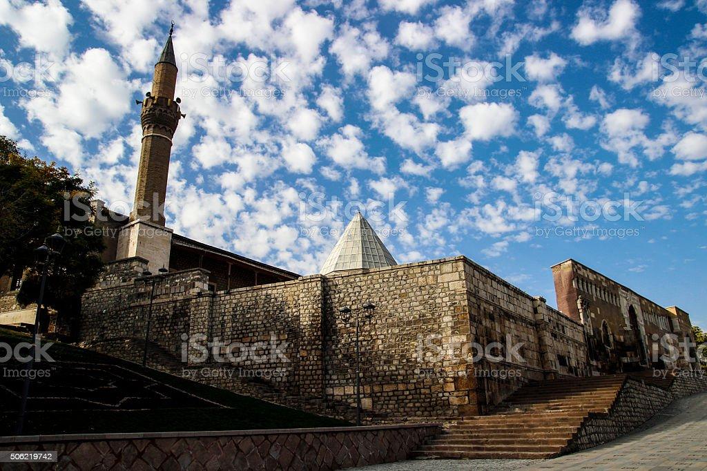 alaaddin mosque stock photo