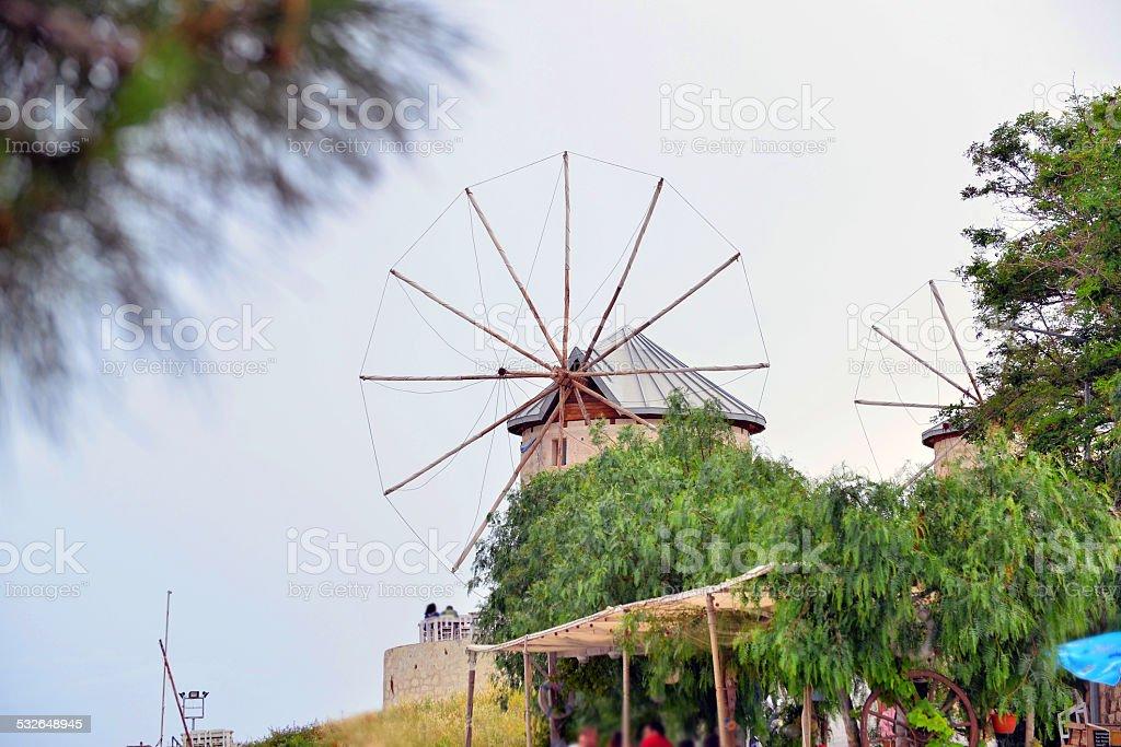 alaçatı windmills foto