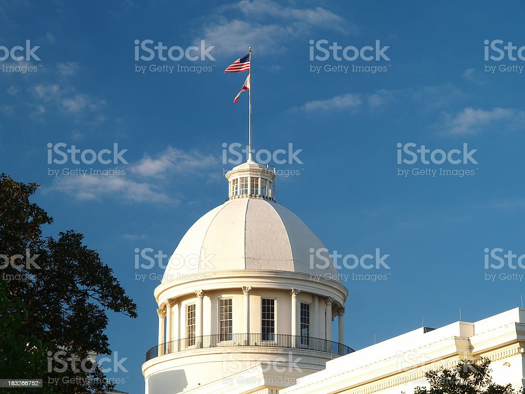 Alabama Capitol dome stock photo